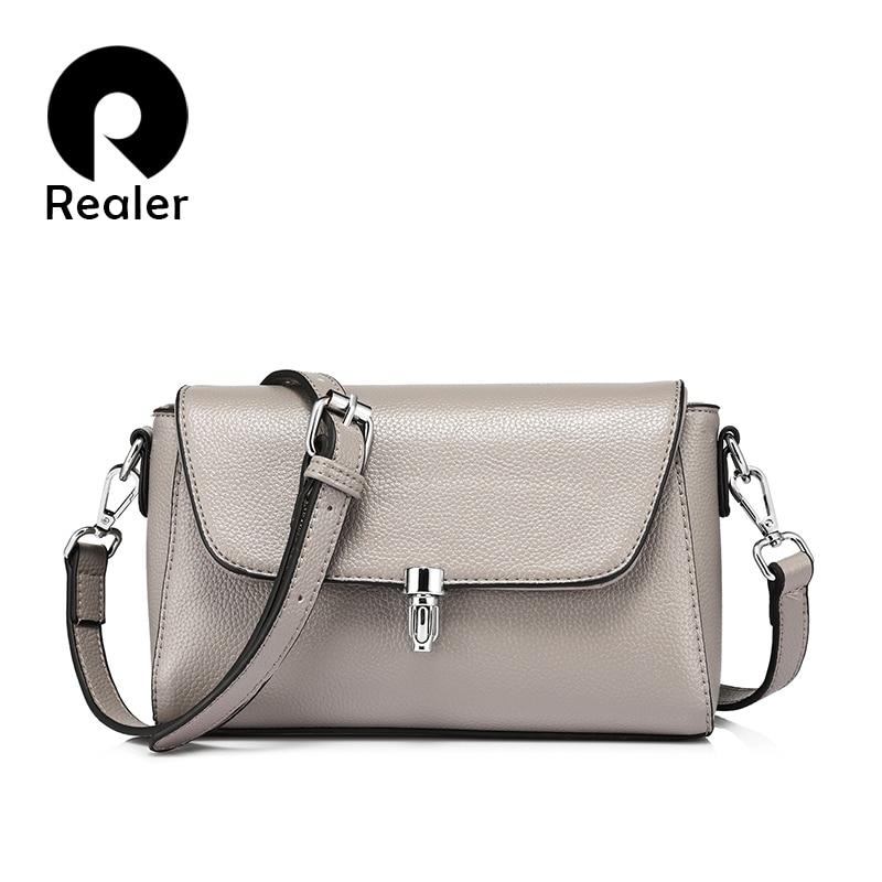 REALER brand new fashion women messenger bags female shoulder crossbody bag ladies large capacity handbag Light Blue/Gray/Black игрушка ecx ruckus gray blue ecx00013t1