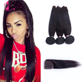 Brazilian Straight Hair With Closure 7a Unprocessed Virgin Hair 100% Brazilian Human Hair Wave Rosa Hair Products With Closure