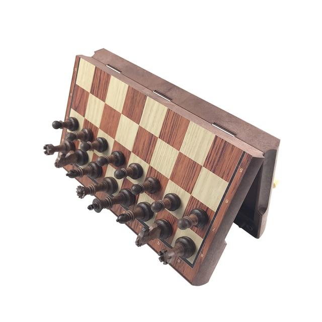 De haute qualité d'échecs En Bois WPC D'échecs Plié Conseil International magnétique Jeu d'échecs Exquis Échecs Puzzle Jeux Jeu de Société Yernea 2