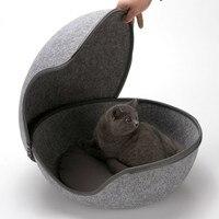 High Quality Cat Sleeping Bag Soft Winter Warm Dog Cat Felt Bed Sleeping Bag Zipper Egg Shape Warm Pet House Nest Pet House