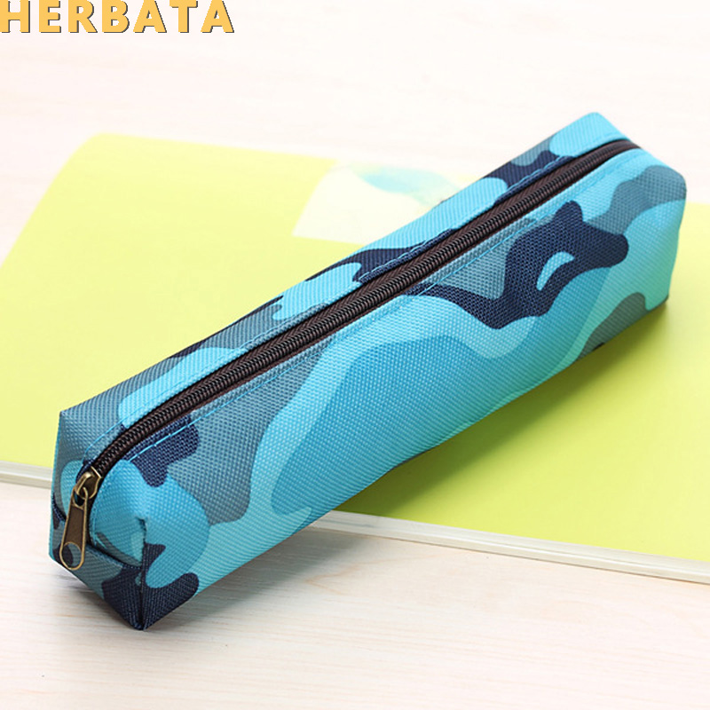 Camouflage Pencil Case Pencil Bag For Boys And Girls School Supplies Cosmetic Makeup Bags Zipper Pouch Purse 4 Colors CL1917