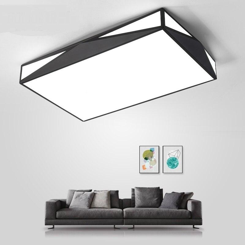 Rectangular Ceiling Lights Living Room Lamp Modern Minimalist Geometry Atmosphere Creative Bedroom Lobby Interio LU821384