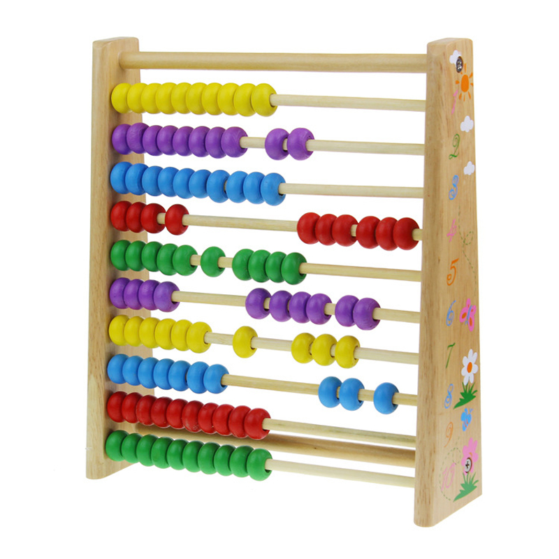 1Piece Wooden Abacus Mathematics Elementary Operation Baby