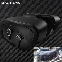 2X Motorcycle Saddlebag Leather Motorcycle Saddle Bags For Harley Sportster XL 883 XL 1200 For BMW R1200GS Outdoor Side Bag