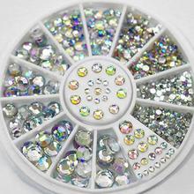 2016 NEW Nail decoration Rhinestone 5 Sizes White Multicolor Acrylic Nail Art Decoration Glitter Rhinestones