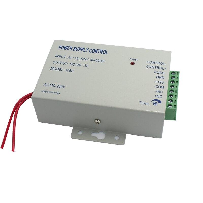 JEX DC 12 v/3A Neue Tür Access Control system Schalter Netzteil AC 110 ~ 240 v Verzögerung zeit max 15 zweite