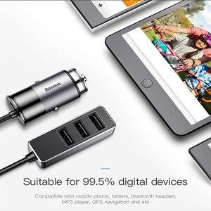 Image 2 - Chargeur de voiture USB Baseus 4 5V 5A charge rapide pour iPhone iPad Samsung Xiaomi tablette adaptateur GPS chargeur chargeur de téléphone de voiture