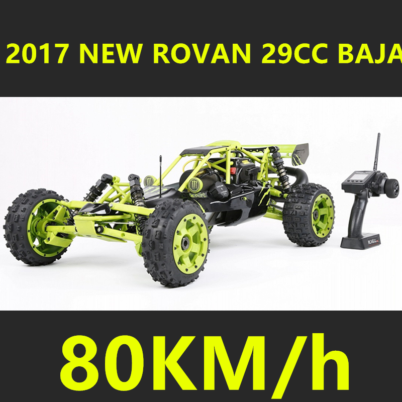 2017 New Rovan 1/5 Scale Gasoline RC Car BAJA 5B High-strength Nylon Frame 29CC Engine Warbro668 Symmetrical Steering 2017 new rovan 1 5 scale gasoline rc car baja 5b high strength nylon frame 29cc engine warbro668 symmetrical steering