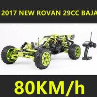 2017 New Rovan 1/5 Scale Gasoline RC Car BAJA 5B High strength Nylon Frame 29CC Engine Warbro668 Symmetrical Steering