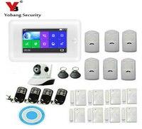 Yobang безопасности 4,3 дюймов wifi RFID 3g WCDMA домашняя охранная сигнализация с датчиком дыма, детектор GPRS SMS RFID снятие с охраны