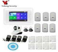 Yobang Security 4.3inch WIFI RFID 3G WCDMA Home Security Alarm System With smoke fire sensor detector GPRS SMS RFID Arm Disarm