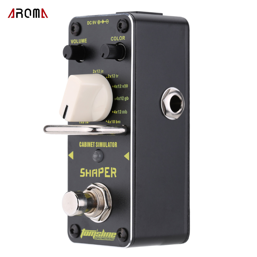 AROMA ASR 3 Guitar Effect Pedal Shaper Cabinet Simulator Mini Single Electric Guitar Effect Pedal with