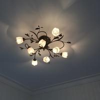 Светодиодный потолочный светильник из кованого железа 6 головок личность ретро ностальгия кафе бар потолочный светильник кованые потолочн