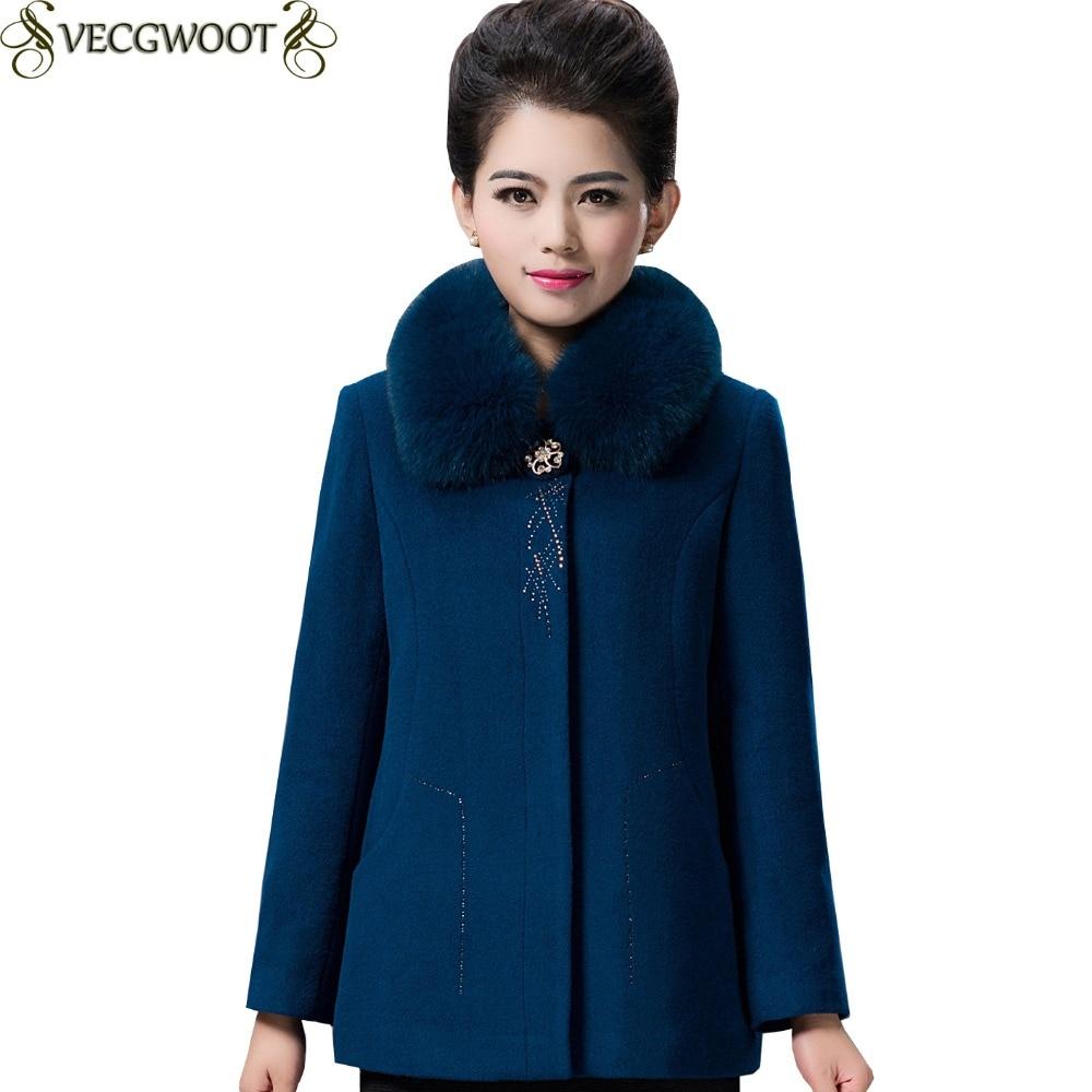 Veste Red Mode Moyen Blue Hiver Solide Couleur X1386 Fourrure Slim Y6b7yvfg