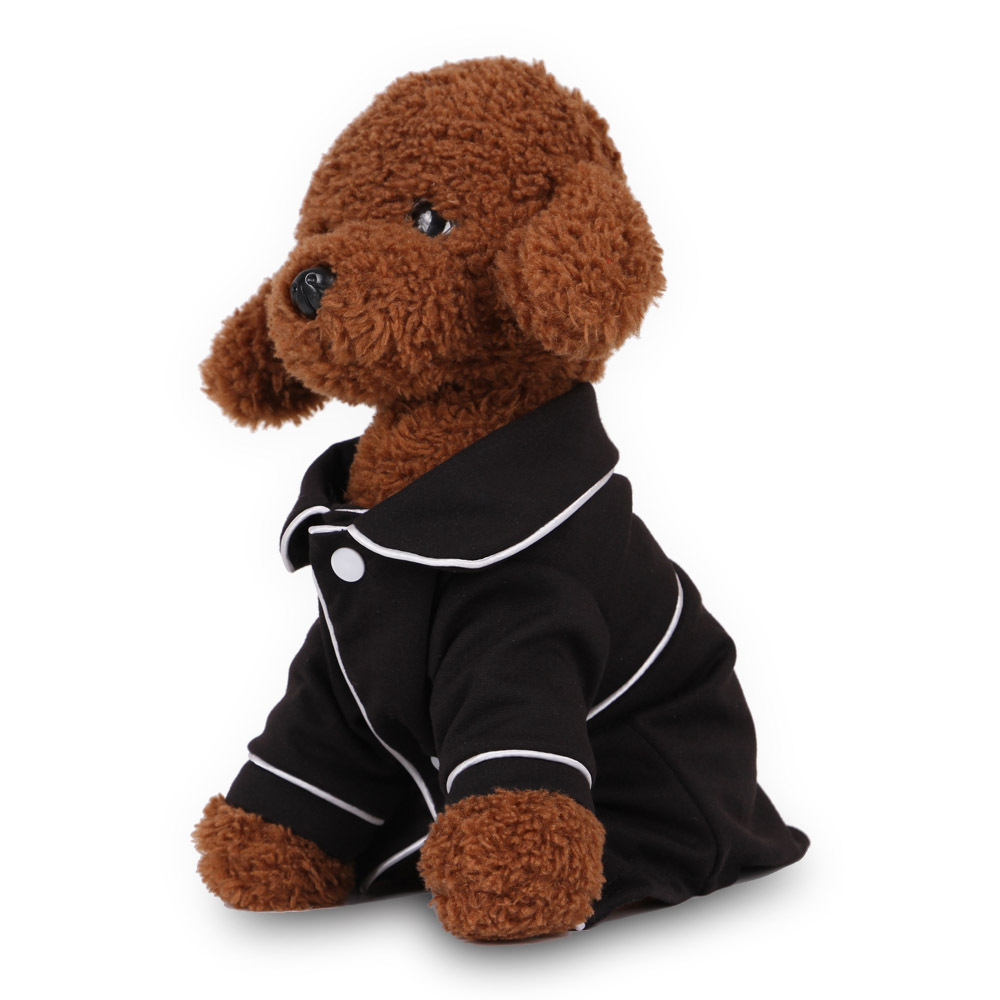 Small Dog Apparel Coat Pet Puppy Pajamas Black Pink Girls Poodle Bichon Teddy Clothes Christmas Cotton Bulldog Softfeeling Shirt