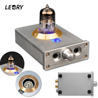 DIY HIFI Headphone Amplifier Fever Level Valve With LED Lights Audio Tube For Computer MP4 Lossless