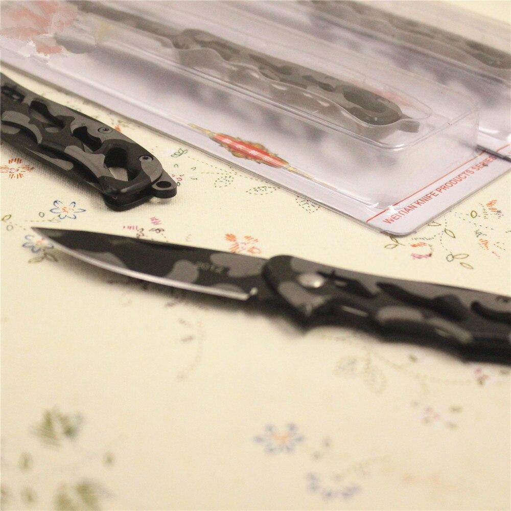 Cuchillo de hoja plegable de bolsillo, cuchillo de supervivencia de - Herramientas manuales - foto 2