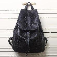 New 2016 High-grade Leather Backpacks Designer Washed Leather Bag Backpack Retro Korean Backpack Shoulder Bag for Girls Y79