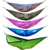 Portable Outdoor Camping Mosquito Net Nylon Hammock Hanging Bed Sleeping Swing Hanging Bed Leisure Travel Hammocks