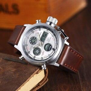 Image 5 - AMST Military Watches Dive 50M Nylon&Leather Strap LED Watches Men Top Brand Luxury Quartz Watch reloj hombre Relogio Masculino