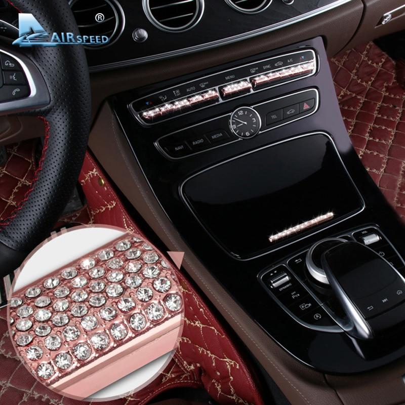Airspeed for Mercedes Benz C Class W205 GLC Class E Class W213 Car Console Button Diamond
