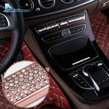 Скорость полета для Mercedes Benz C Class w205 GLC класса Е класса W213 консоли автомобиля кнопку алмазов Наклейки отделкой украшение автомобиля стиль