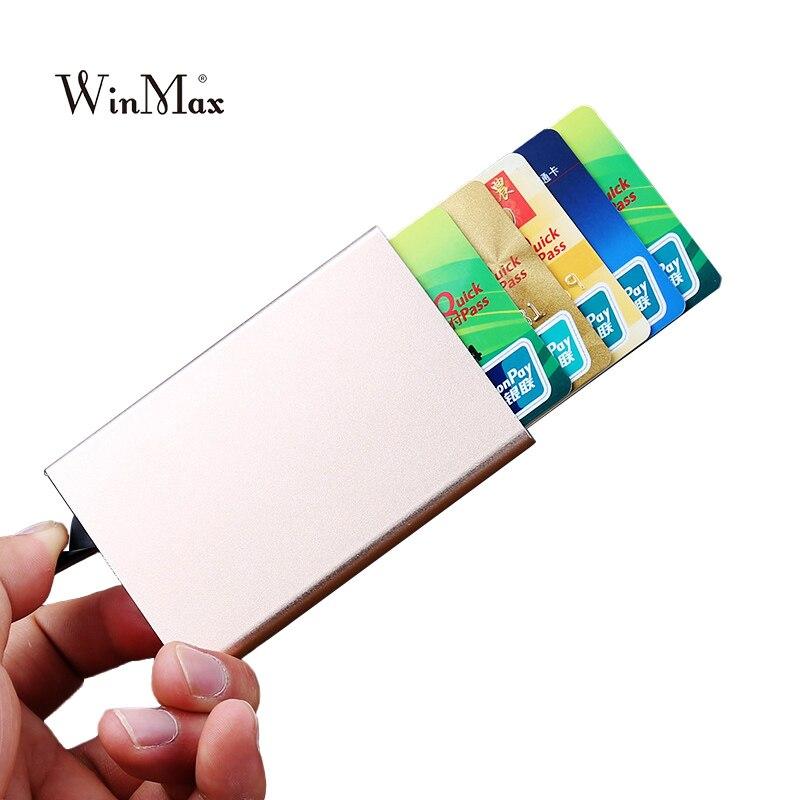 Высокая QualitId металлический держатель кредитной карты с денежных клип одноцветное автоматическая коробка карты комплекты бизнес наличные ... ...
