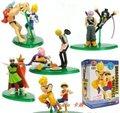 10 unids japón anime Dragon ball con una pieza Franky + Vegeta Luffy + Goku figura pvc juguete de altura 10 cm set