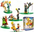 10pcs Japan anime Dragon ball with One piece Franky + Vegeta Luffy +Goku pvc figure toy tall 10cm set.