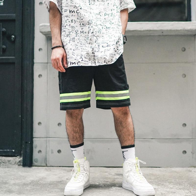 High Street Shorts Men 2019 New Arrivals Drawstring Straight Shorts Hip Hop Casual Shorts Skate Beach Fashion Track Shorts