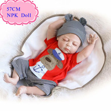 """Wholesale Hot Style 57cm About 22"""" Full Silicone Reborn Baby Doll Can Bathe With Kids Best Bebe Reborn Doll As Christmas Gift"""
