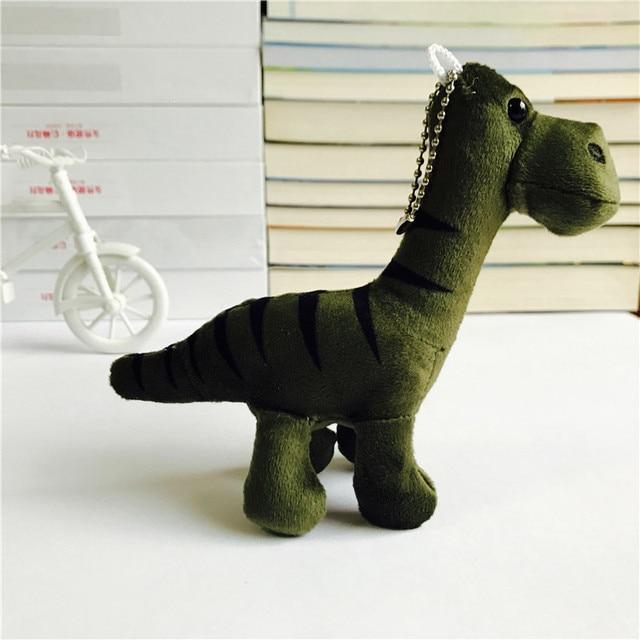14 cm Dinossauro Brinquedos De Pelúcia Keychain Bag Backpack Pingente Bichos de pelúcia Boneca de Brinquedo das Crianças Brinquedos para Crianças Festa de Aniversário presente