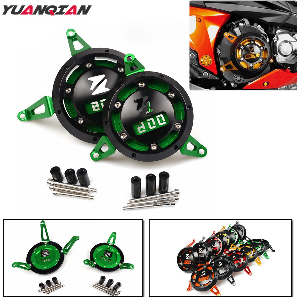 Motorcycle Accessories Engine Stator Cover Moto Engine Protection Guard Cover For Kawasaki z800 z 800 2013 2014 2015 2016 2017 arashi 1pcs cnc floating front brake disc brake rotors for ktm duke ii 640 2003 2004 2005 2006 duke 690 2012 2013