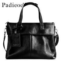 Padieoe 2017 New Design Men's Luxury Briefcase Genuine Cow Leather 14