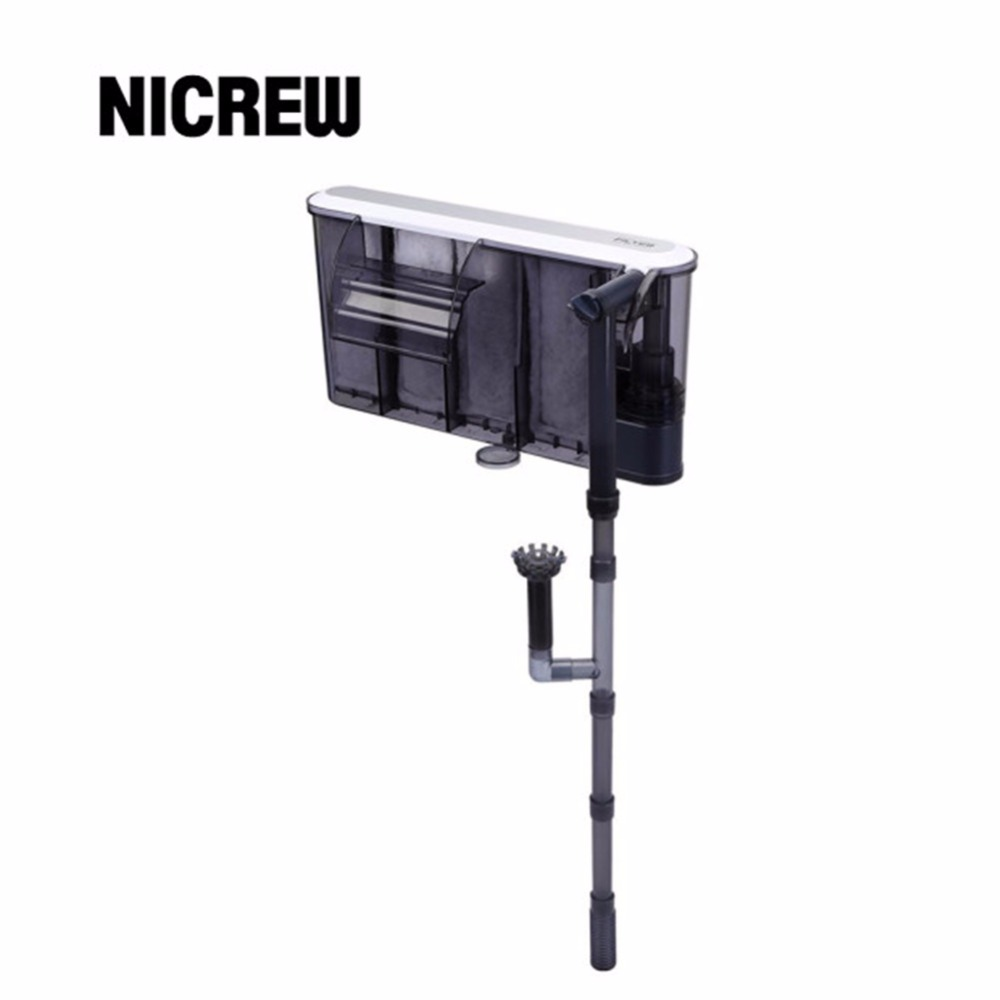 Nicrew Aquarium Submersibl 3-in-1 External Hanging Fish Tank Power Filter XP-05/09/11/13 waterfall external aquarium air pump