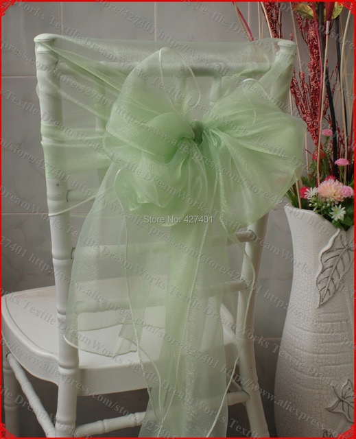 aliexpress com buy no 20 light green organza chair hoods chair