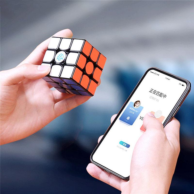 Nouveau GAN356 i magnétique magique vitesse Cube professionnel sans bâton gan356i aimants en ligne compétition Cubes GAN 356 i Cubo Magico - 6