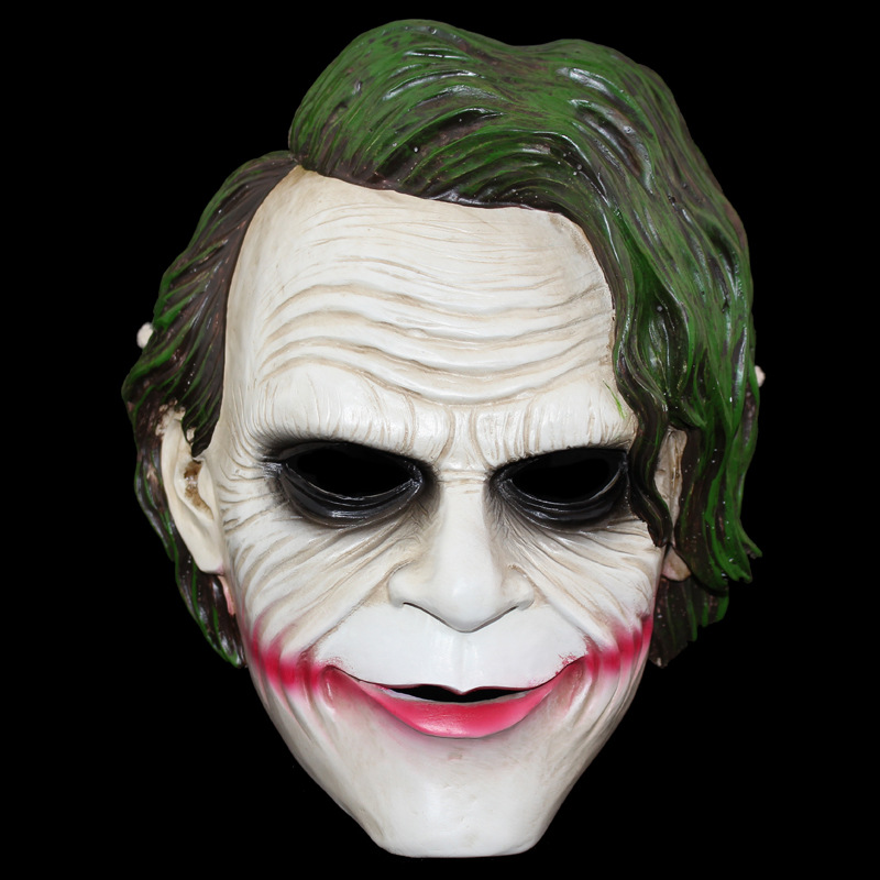 high quality halloween the dark knight clown mask scary premium resin mask cosplay party props mascara airsoft free shipping - Premium Halloween Masks