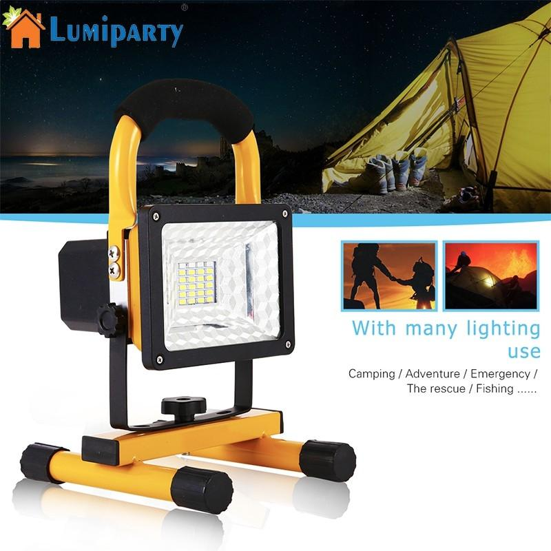LumiParty Rechargeable 15W 24 LED Spotlights Work Light Roadside Emergency Floodlight for Outdoor Working shipping from russian