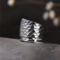 Thailand silver by hand Playing on the glossy female paragraph 925 sterling silver ring ring fashion and personality