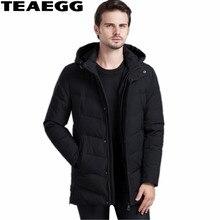 TEAEGG Black Thick White Duck Down Jackets For Men Coat Parka Hombre 2017 Winter Men's Down Jacket Outwear Warm Mens JacketAL505