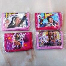 Random 1pcs soy luna Wallets Purse coin bag plastic toy for girl