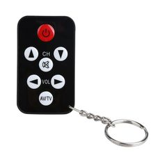 Universal Infrared Wireless IR TV Controller 7 Keys Television Keychain Remote Control Replacement for Philips