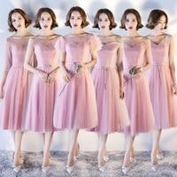 Sexy Women Flower Lace Qipao Stage Show Cheongsam Wedding Bridesmaid Dress 2018 Solid Vestidos Robe Demoiselle D'honneur S XXL