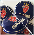 Hot selling 40PCS 56.5MM blue SAAB Emblem Wheel Center Stickers Wheel Covers Badges Hub Cap Stickers