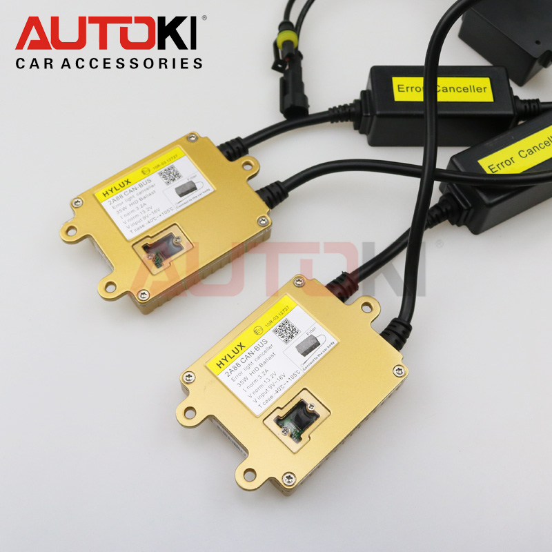 Free Shipping 3 Years Guarantee 35W 12V Slim Hyluxtek HID Bi Xenon Ballast Can-bus Gold Color 2A88 Car Headlight Replacement цена 2017