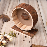 Hamster Running Wheel Natural Living Cute Wooden Chew Toys Exercise Wheel For Hamsters Chinchillas Guinea Pigs
