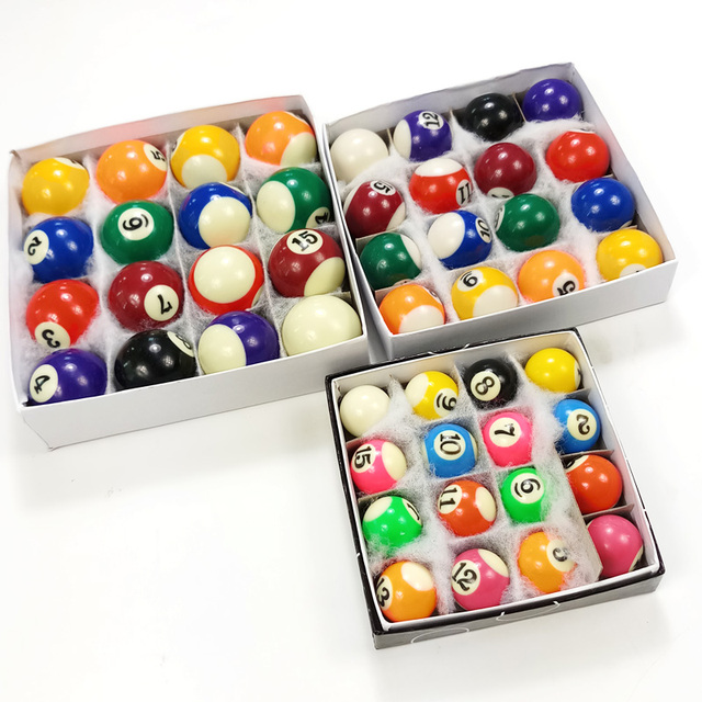 Xmlivet New Children Billiards Table Balls Full Sets 25mm/32mm/38mm Resin  Small Billiard Pool Balls Hot Sell