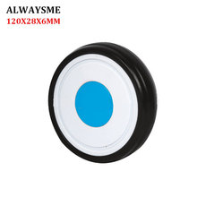 Replacement-Parts Stroller-Wheels Front ALWAYSME 1PCS 120mm-Width 28mm-Hole 6mm Universal