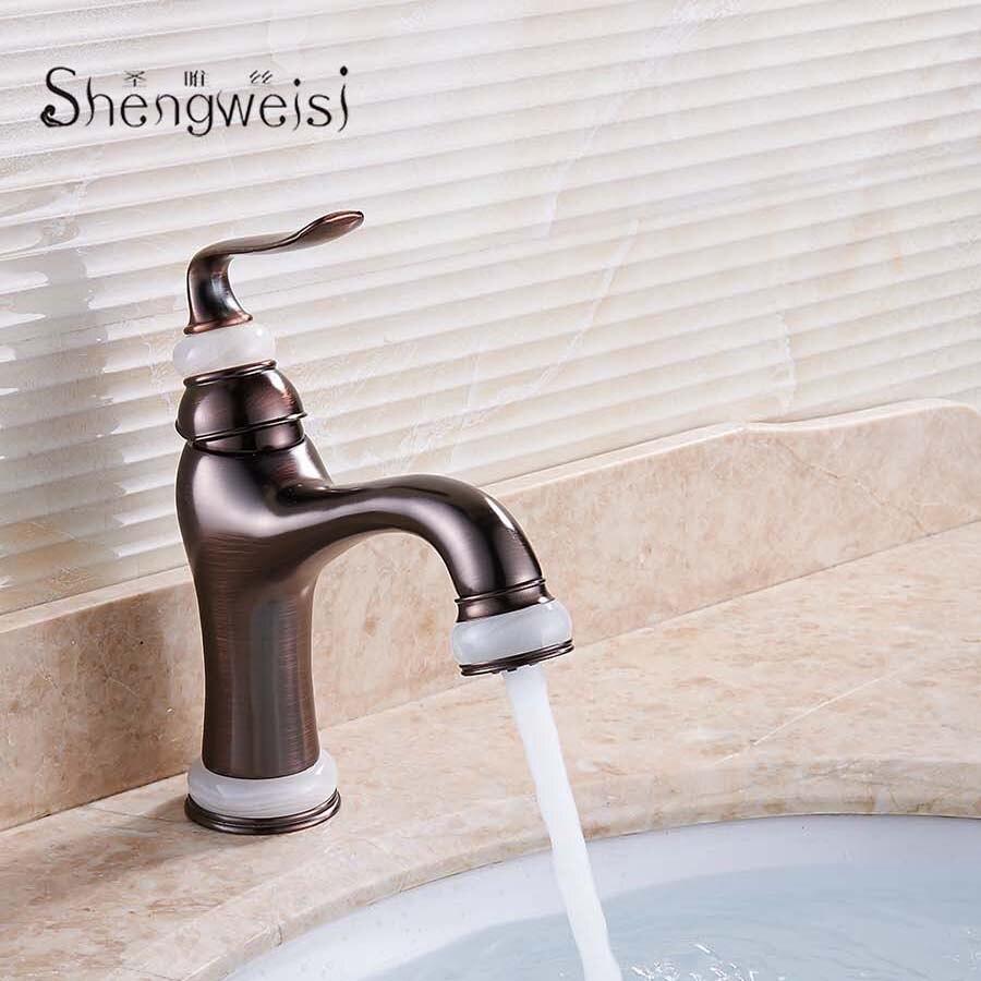 Shengweisi Brass Bathroom Basin Mixer Tap European Style Tap Black ...